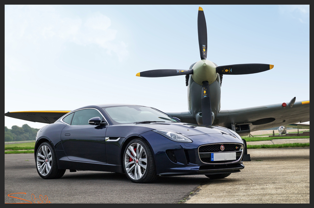 Stella Scordellis Spitfire and F-Type Jaguar