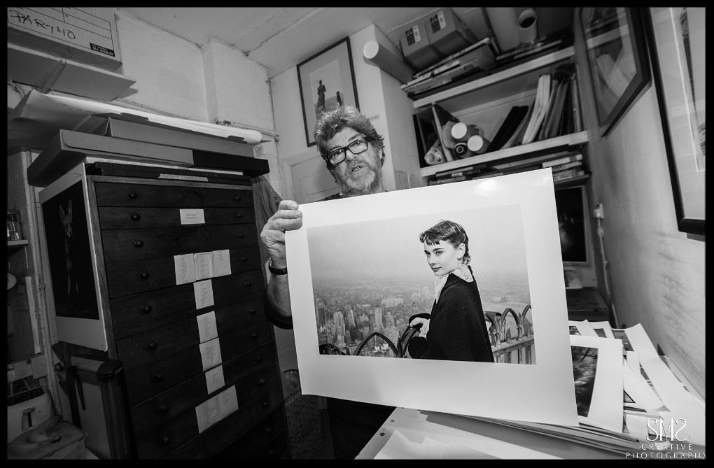 A print of audrey hepburn robin printed for a recent exhibition about the screen icon