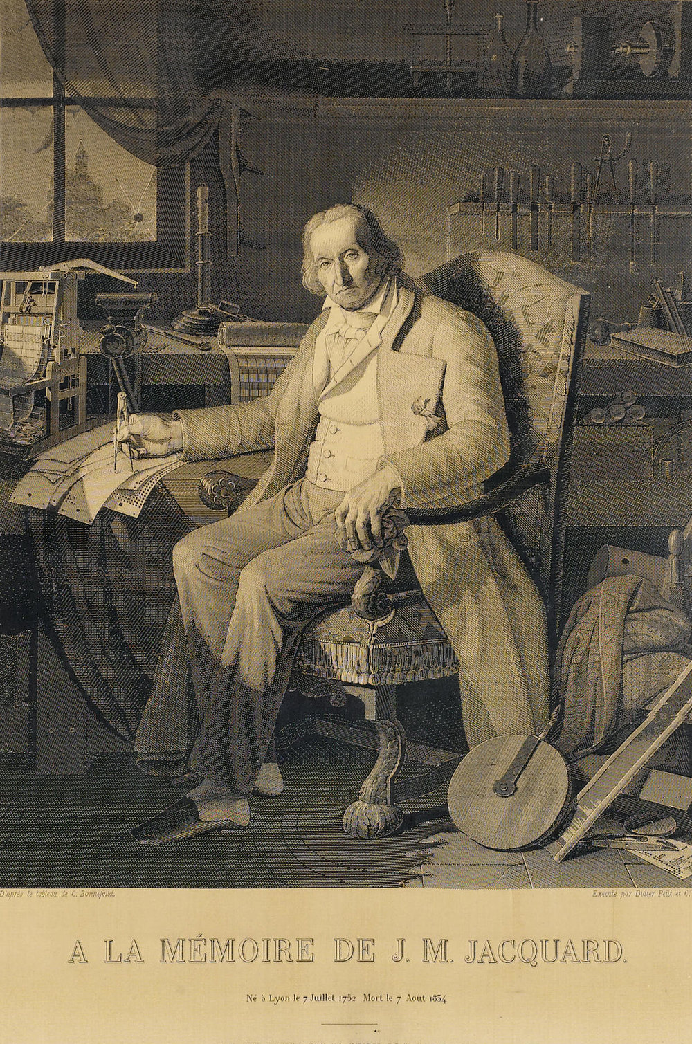 A self portrait of Jacquard made on his loom from silk