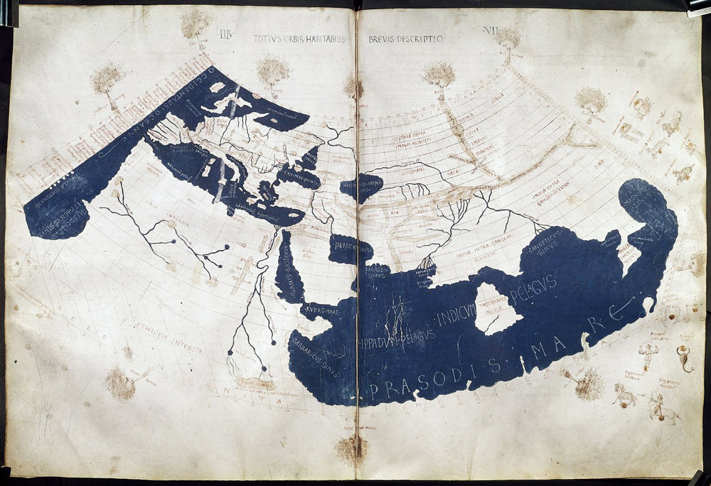 A reconstruction of Ptolemy's map from medieval times.
