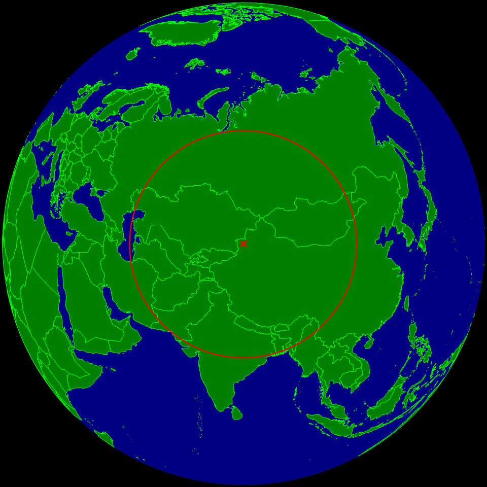 The Eurasian Point of Inaccessability, the farthest point from the ocean