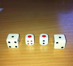 The different dice.