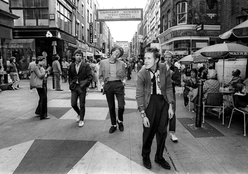 Sex Pistols. Carnaby Street. Spring 1976.