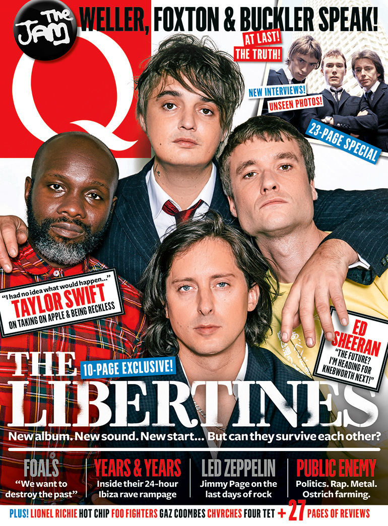 The Libertines are on the cover of Q350 – on sale now