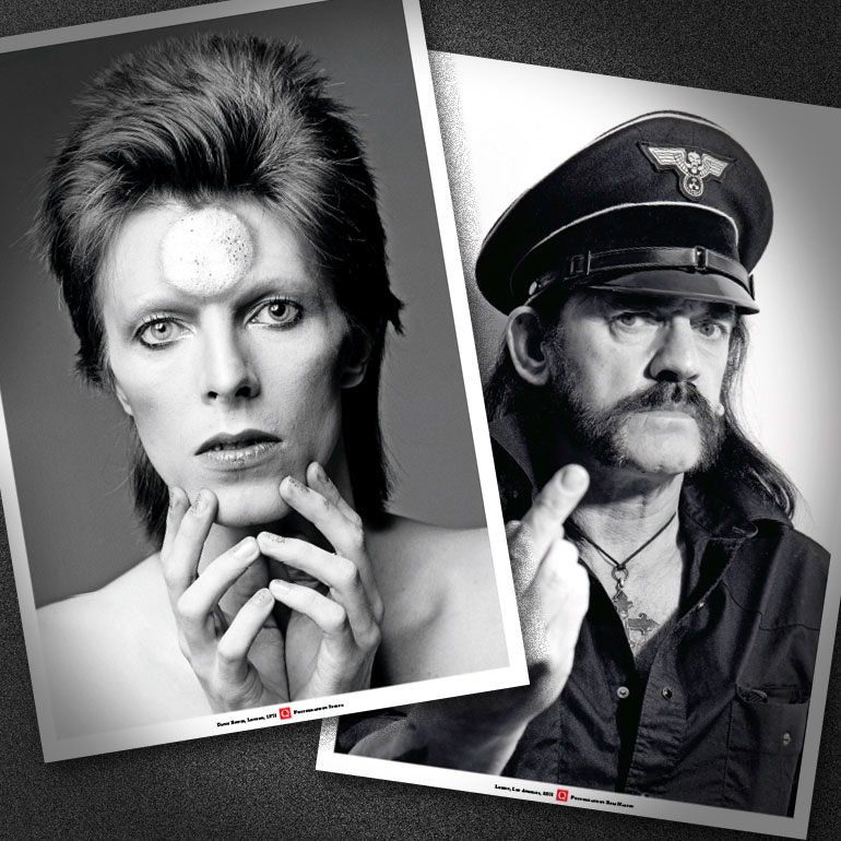 David Bowie & Lemmy – Poster availablewith print editions of Q356