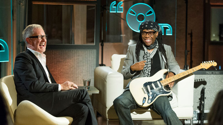 They cried, they laughed. Tube guru Malcolm Gerrie (left) and Chic's Nile Rodgers on ...Talks Music's December 2 show.