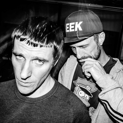 Sleaford Mods' Jason Williamson (front) and Andrew Fearn: they're Drayton Manored.