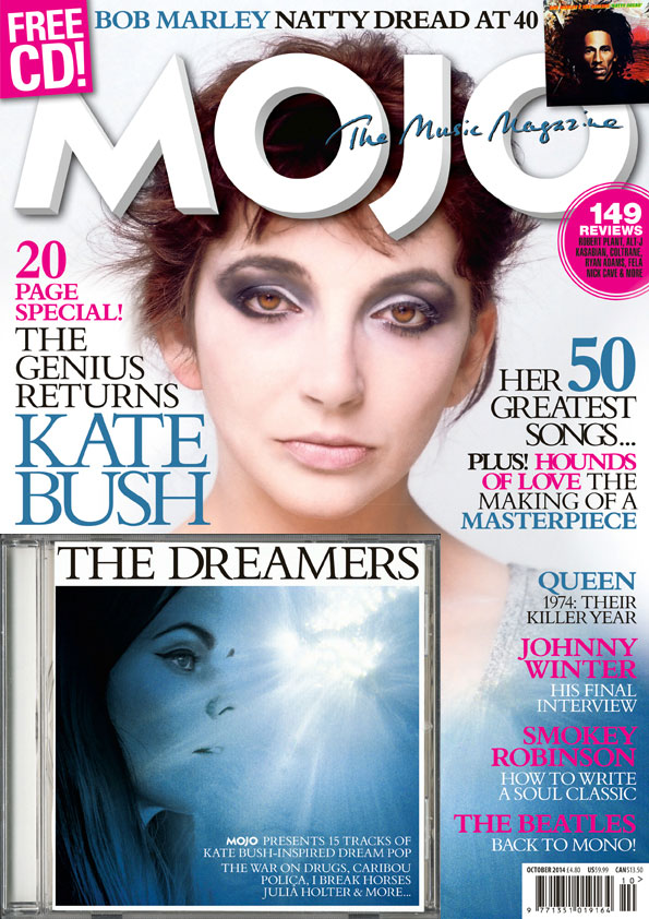 MOJO's Kate Bush cover, onsale in the UK from Tuesday, August 26.