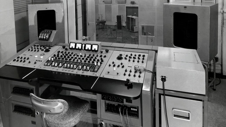 Abbey Road's Studio 2 as it was then, after The Beatles had left the building…