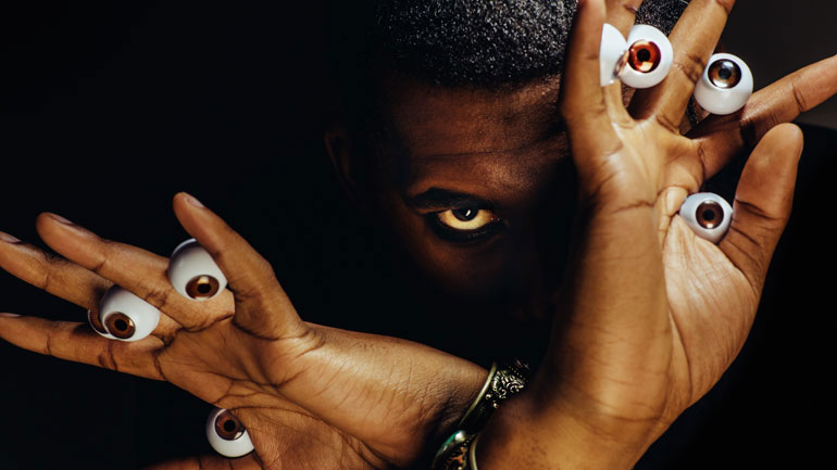 Steven Ellison, aka Flying Lotus: he's making those eyes at you again.