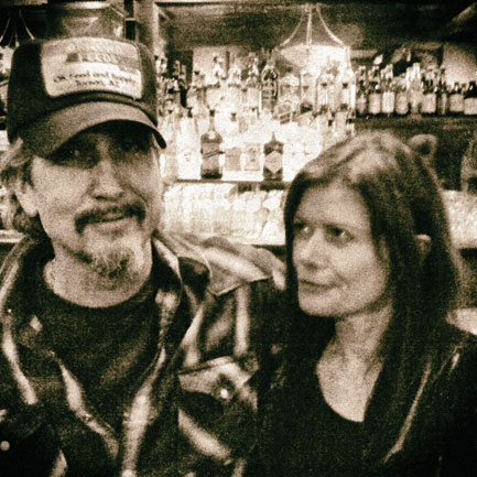 Sylvie Simmons with her producer, Giant Sand man Howe Gelb.