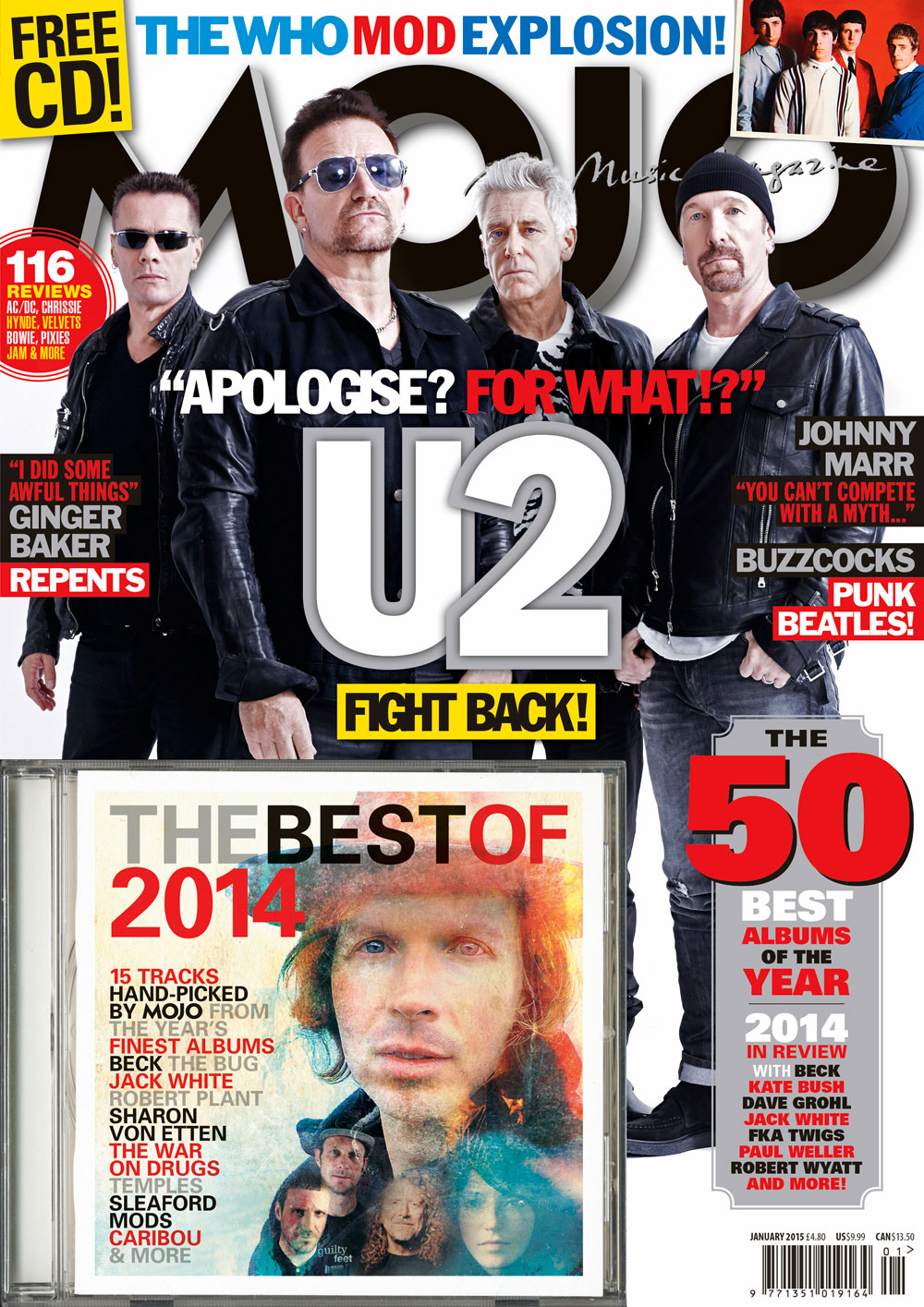 MOJO 254, the U2 issue, available from November 26.