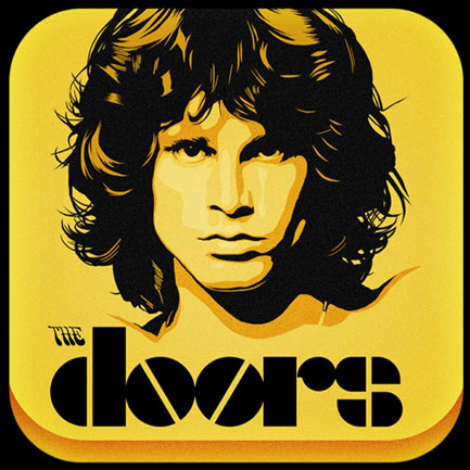 The Doors app icon: gateway to lashings of Jim-centric sound and image.
