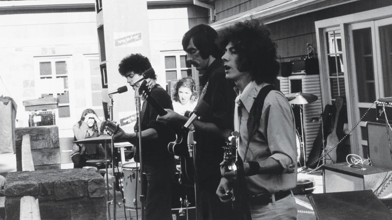 The Velvet Underground: (from left) Lou Reed, Moe Tucker, Sterling Morrison, Doug Yule. Photos Doug Yule / courtesy of Sal Mercuri Collection
