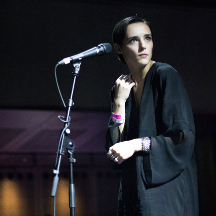 Savages' Jehnny Beth. Photo Erik Luyten.