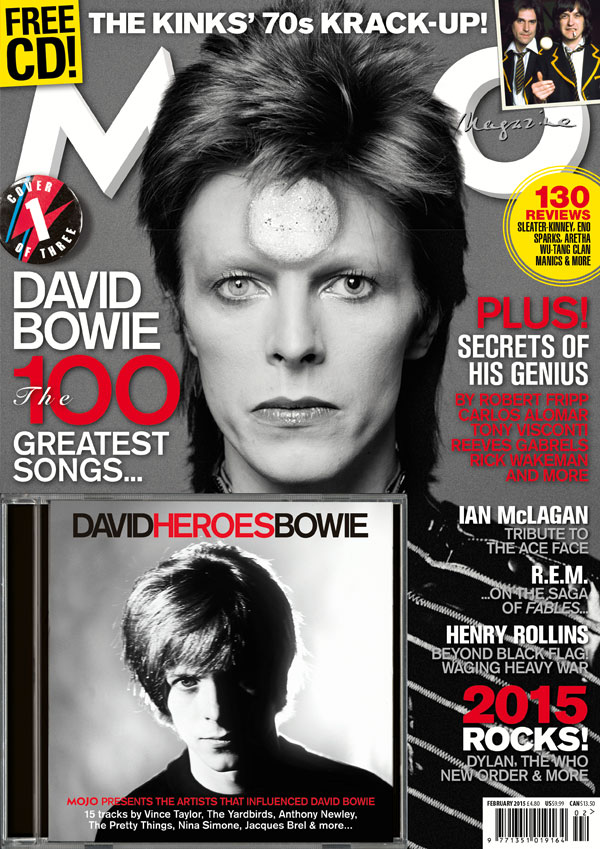 MOJO 255, the Bowie issue ('Cover 1' option), available from Tuesday, December 30, 2014.
