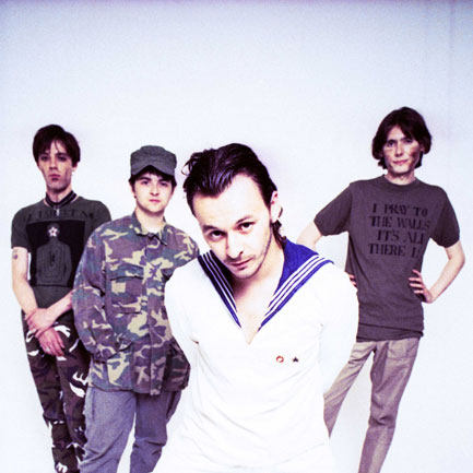 The Manics <em>The Holy Bible</em> era with missing bandmate Richey Edwards (<em>far left</em>).