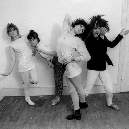 The Slits: (from left) Viv Albertine, Palmolive, Tessa Pollitt, Ari Up. Photo: Ray Stevenson / Rex