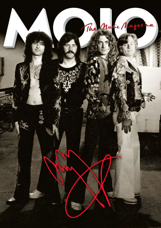 MOJO's Jimmy Page Signature Cover– part of the Led Zeppelin Limited Vinyl Edition package. Click image for more info.