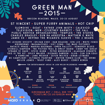 Green Man 2015 poster: click for full line-up.