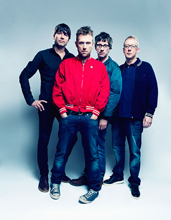 Band of brothers: Blur, February 2015 by Tom Oldham. From left: Alex James, Damon Albarn, Graham Coxon, Dave Rowntree.