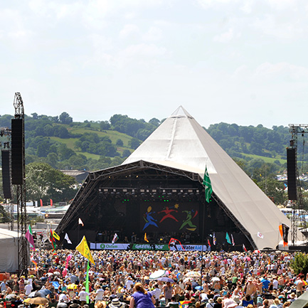 Glastonbury's Pyramid Stage, set to host The Who on June 28.