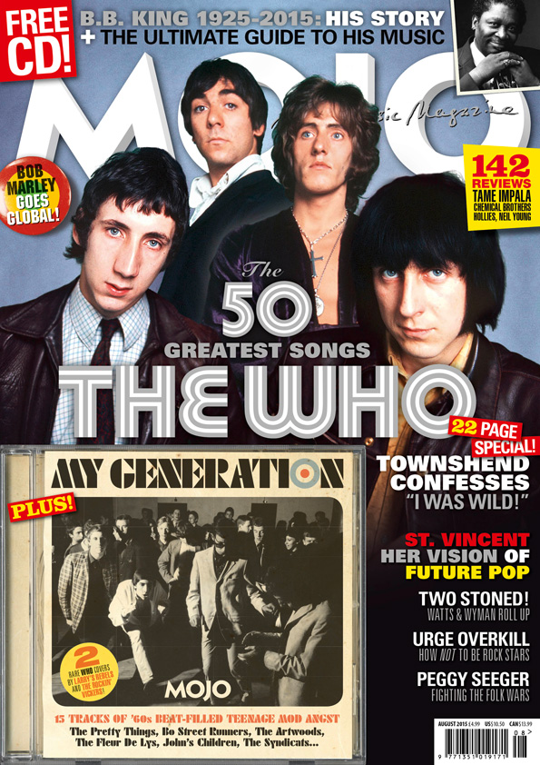 The cover of MOJO 261, available in the UK from Tuesday, 30 June 2015.