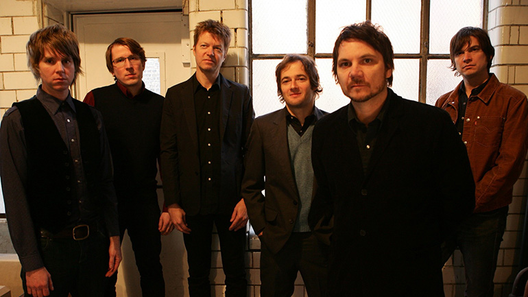 Wilco: (from left) Patrick Sansone, Mikael Jorgensen, Nels Cline, John Stirratt, Jeff Tweedy, Glenn Kotche.