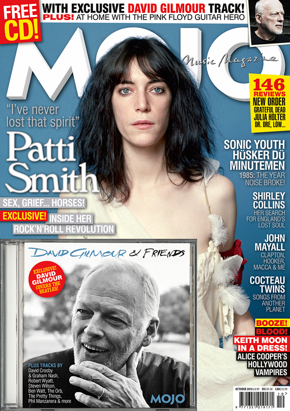 Patti Smith on the cover of MOJO, on sale from August 25, 2015.