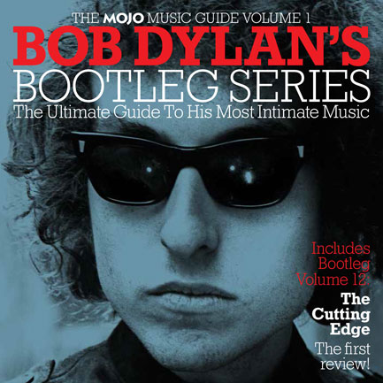 The cover of our 52-page Bob Dylan book, packaged with MOJO 265.