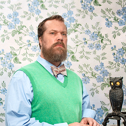 John Grant pictured with the original version of Twitter.