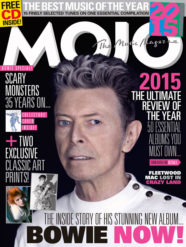 The cover of MOJO 266, on sale in the UK from Tuesday, November 24, 2015