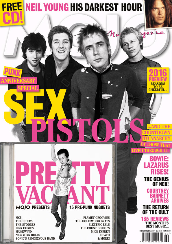 The cover of MOJO #267, on sale in the UK from December 29, 2015.