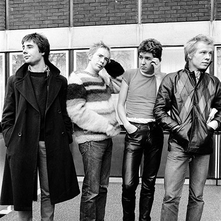 Sex Pistols in 1976, Steve Jones second from right.