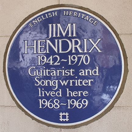 The blue plaque (that MOJO helped campaign for!) at 23 Brook Street, London.