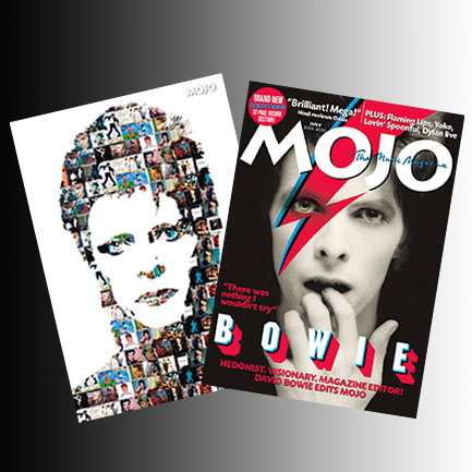 Art prints free with #268: the cover of the issue David Bowie edited plus our exclusive artwork portrait.