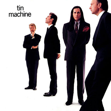 Tine Machine's first album (1989). Reeves Gabrels in foreground.