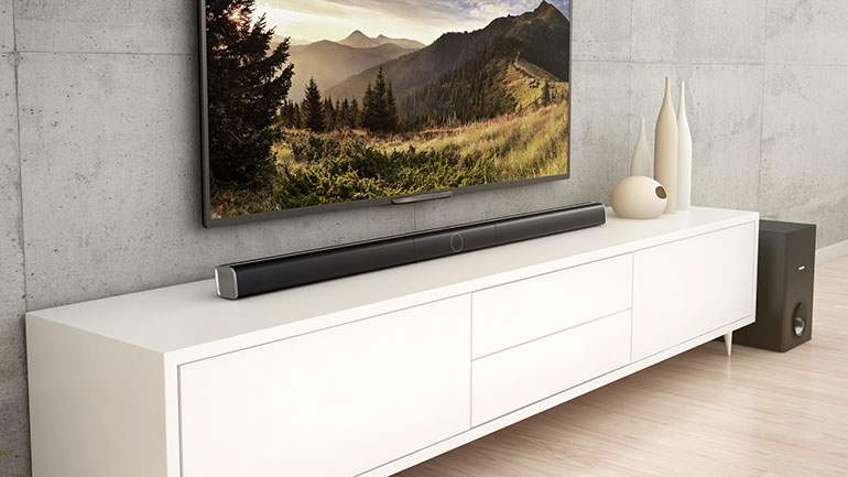 The Philips Soundbar in situ, but not chez MOJO, unfortunately.