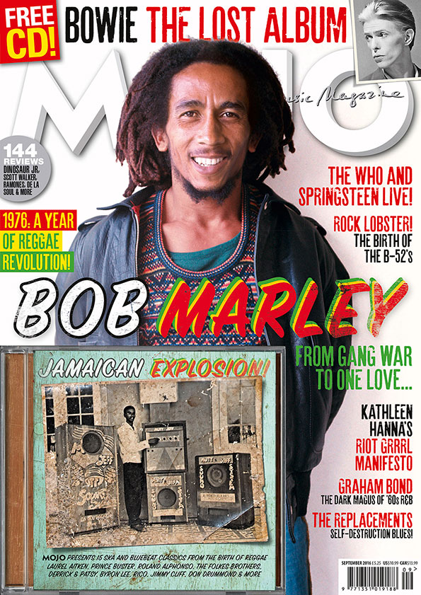 MOJO 274 / September 2016, with cover star Bob Marley and <em>Reggae Explosion!</em> CD.