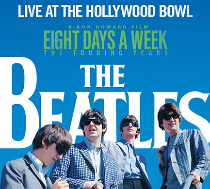 <em>The Beatles: Live At The Hollywood Bowl</em> CD cover. Yes Beatle boffins, that is the Beatles in Tacoma WA, August 22, 1964. Pic by Bob Bonis.