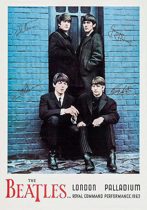 Vintage-repro Beatles poster: part of MOJO 275's deluxe package.