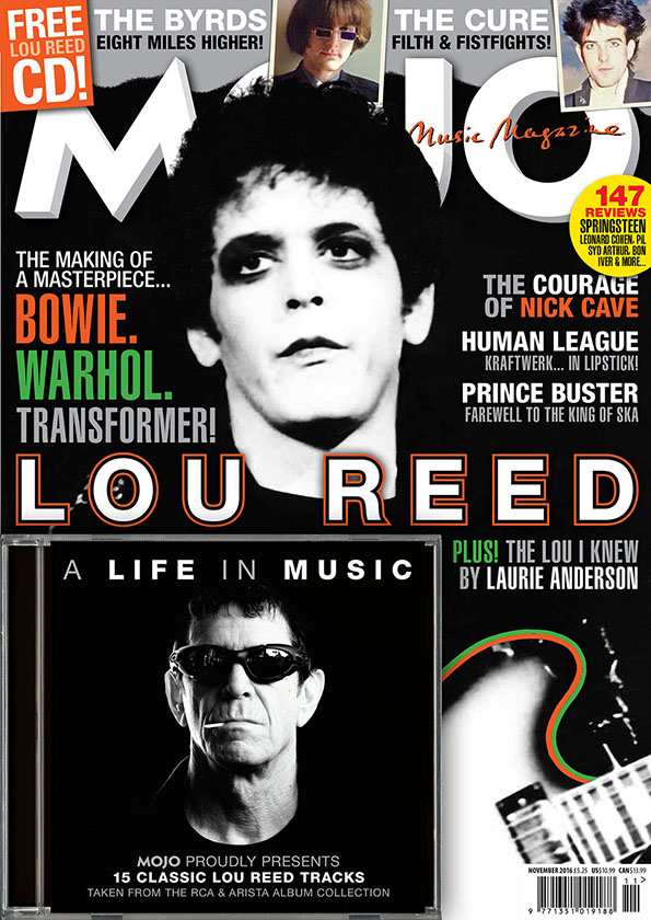 MOJO 276, featuring Lou Reed, on sale in the UK from Tuesday, September 27.