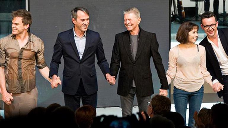 Lazarus creators: (from left) Michael C. Hall, Ivo Van Hove, DB, Cristin Milioti, Enda Walsh.