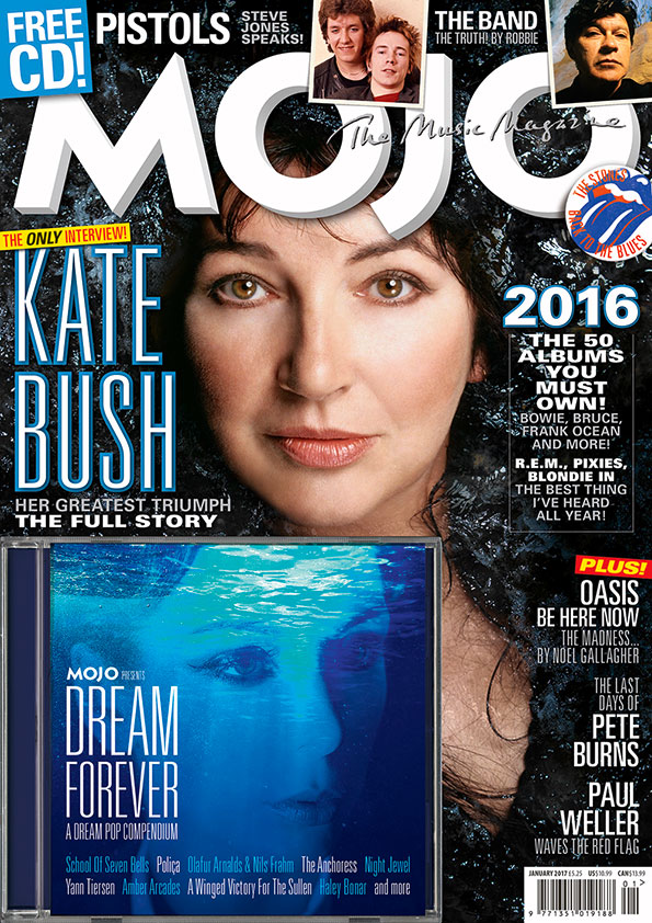 Kate Bush on the cover of MOJO 278.