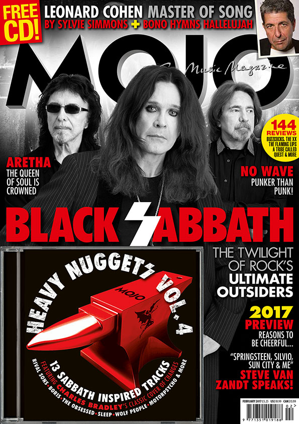 MOJO 279, starring Black Sabbath, Leonard Cohen and Aretha Franklin.