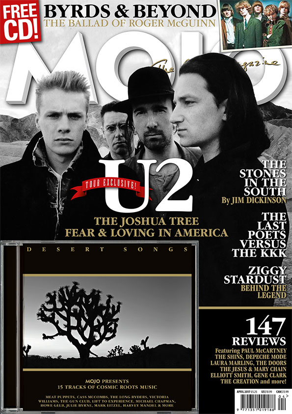 MOJO 281, featuring U2, Roger McGuinn, Bowie and more.