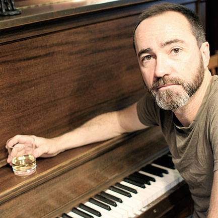 The Shins' James Mercer. Waxing arboreal.