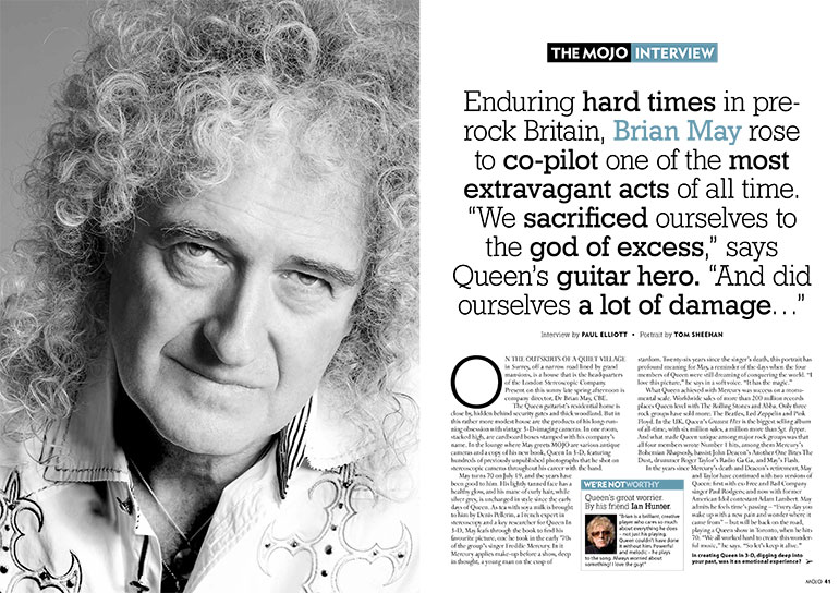 "Brian May in the MOJO Interview, MOJO 284: ""You can never say 'never'."""