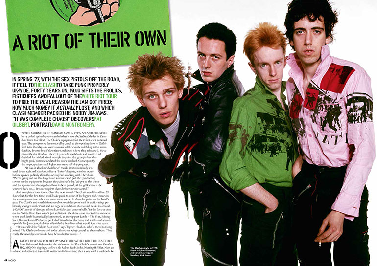 The Clash in MOJO 285: spoiling for a scrap in 1977.