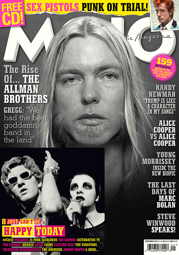 Gregg Allman, on the US-only cover of MOJO 286.